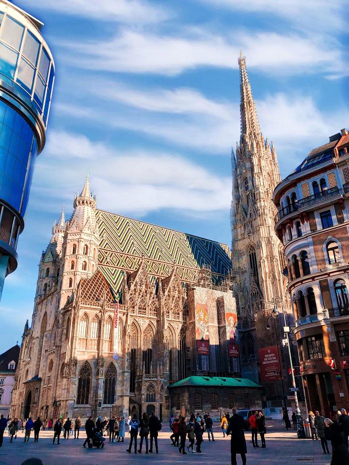 katedra świętego szczepana wiedeń z dzieckiem